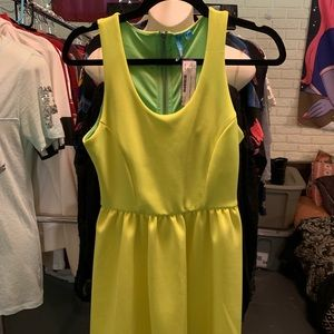 Neon Green Party dress